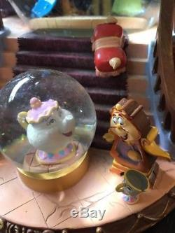Disney Beauty And The Beast Library Musical Snow Globe with Blower