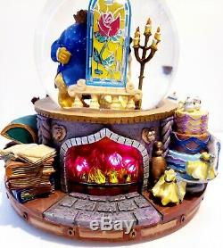 Disney Beauty And The Beast Musical Light Up Snowglobe