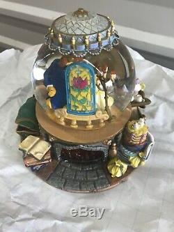 Disney Beauty And The Beast The Enchanted Love Musical Snow Globe 1991