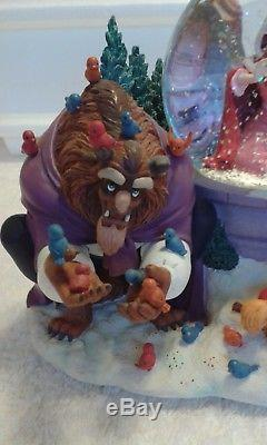Disney Beauty And The Beast Winter Musical Snow Globe (Extremely Rare)