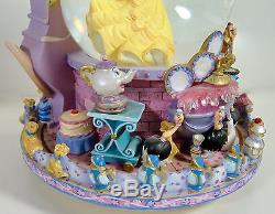 Disney Beauty Belle & The Beast Rotating Base Musical Snowglobe Be Our Guest 91