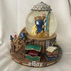 Disney Beauty &The Beast ENCHANTED LOVE Musical Light Up Figurines SnowGlobe