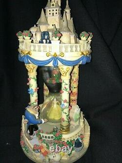 Disney Beauty & The Beast Enchanted Castle Hourglass Musical Snowglobe