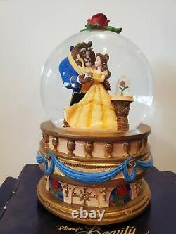 Disney Beauty & The Beast Musical Snowglobe with Box Vintage 1991 Very Rare