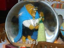 Disney Beauty and The Beast Belle Library Music Snowglobe Globe with Blower