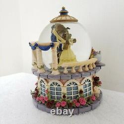 Disney Beauty and the Beast Ballroom Rose Garden Dance Musical Snow Globe TESTED