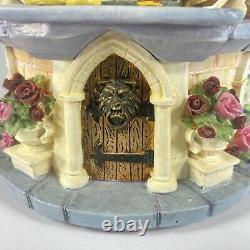 Disney Beauty and the Beast Musical Snow Globe Rose Garden 1991 Retired RARE