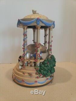 Disney Beauty and the Beast Musical Snowglobe Gazebo RARE Original Box