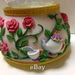 Disney Beauty and the Beast Snow Globe very Music Box rare from japan