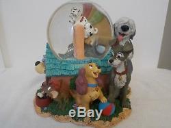 Disney Best Dogs Musical Snowglobe