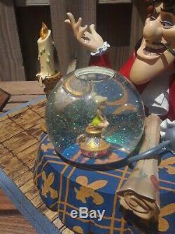 Disney Captain Hook Tinker Bell Light Snow Globe Music Box Moonlight Sonata RARE