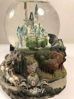 Disney Cinderella Castle 7 Tall Musical Snowglobe-Plays So This Is Love