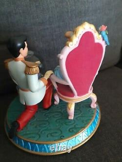 Disney Cinderella Prince Charming Gus Gus Jaq Snowglobe A Wish Is A Dream Music