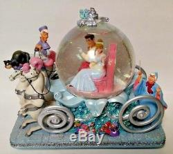 Disney Cinderella's 50th Anniversary Musical Snow Globe Rare HTF Flawed is Love
