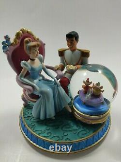 Disney Cinderella with Prince Charming Snow Globe Music Box