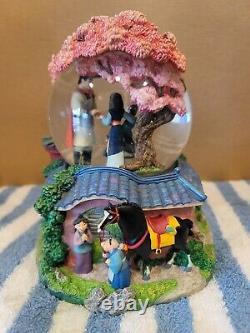 Disney Classic Snowglobe Globel Mulan Reflection Music Box Mushu Shang Rare