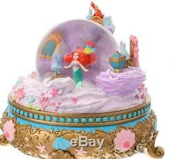 Disney D23 EXPO JAPAN Princess The Little Mermaid ARIEL Snow Globe Music Box