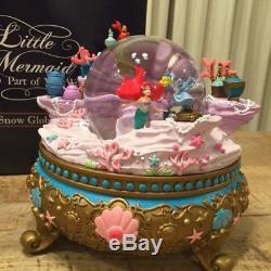 Disney D23 Expo Japan 2018 Limited Ariel Snow Globe Dome Music Box
