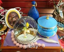 Disney Disneyland Paris Exclusive 2019 Peter Pan Tinkerbell Musical Snowglobe