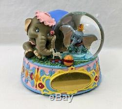 Disney Dumbo 25th Anniversary Musical Snowglobe plays Rock -A- Bye- Baby