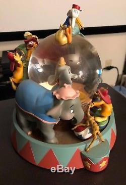 Disney Dumbo Circus Snow Globe & Music Box Entry of the Gladiators RARE