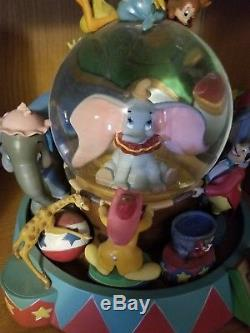 Disney Dumbo Musical Circus Snow Globe Plays Entry of the Gladiators