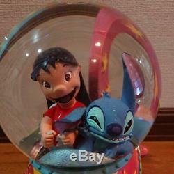 Disney LILO & STITCH Moving Snow Globe Dome Music Box space adventure Figure Toy