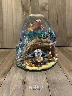Disney LION KING Hakuna Matata Musical Snow Globe Simba Timon Pumbaa RARE
