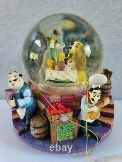 Disney Lady and The Tramp Musical Snow Globe Bella Notte