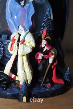 Disney Large Musical Villains Snowglobe Repaired