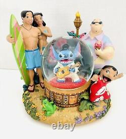 Disney Lilo And Stitch As Elvis Musical Snow Globe Plays Aloha Oe RARE