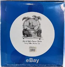 Disney Lilo And Stitch Hammock Aloha Large Light Up Musical Snow Globe RARE