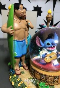 Disney Lilo & Stitch Musical Snowglobe Elvis Aloha Oe NEW NIB #95523