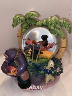 Disney Lilo and Stitch Aloha Musical Snow Globe Free Shipping