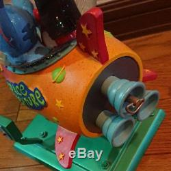 Disney Lilo and Stitch Snowglobe Dome rocket with music box Rocket Twinkle star