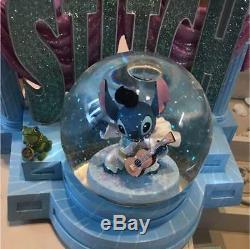 Disney Lilo and Stitch Stitch Snow Globe Music Box Light Elvis Presley Version
