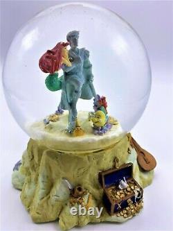 Disney Little Mermaid Ariel Part of Your World Musical Snow Globe Retired