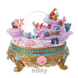 Disney Little Mermaid Ariel Snow Globe Music Box Japan D23 Expo 2018 F/S