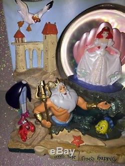 Disney Little Mermaid Ariel Snowglobe-2 Sided Storybook Musical Under The Sea