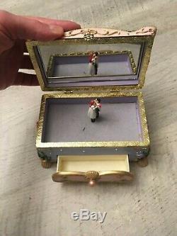 Disney Little Mermaid Kiss the Girl Music Trinket Jewelry Box Vintage 1988