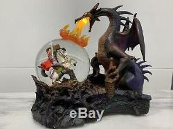 Disney Maleficent Dragon & Prince Philip Snow Globe Music Box
