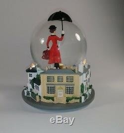 Disney Mary Poppins Broadway Musical Glass Snowglobe VERY RARE! HTF