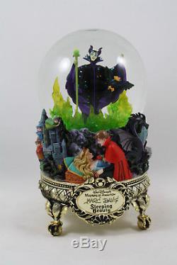 Disney Masters of Animation Marc Davis Sleeping Beauty Musical Light Snow Globe