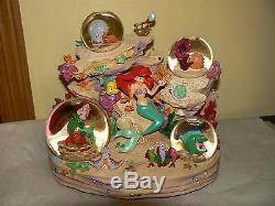 Disney Mermaid Ariel Symphony Under The Sea Musical Snowglobe