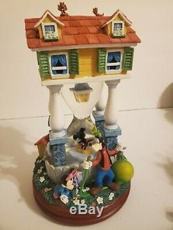 Disney Mickey Mouse At Home Musical Hourglass Snowglobe Ultra Rare Hard to Find