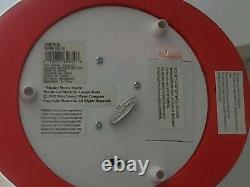 Disney Mickey Mouse March Club Ears Musical Snow Globe Light Up Works 2002