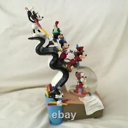 Disney Mickey Mouse Through the Year LE Musical Blower Figurines SnowGlobe-MIB