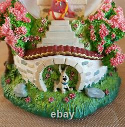 Disney Mulan & Mushu Reflections Musical Snow Globe Retired And Rare