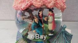 Disney Mulan Musical Snowglobe With Rotating Base Plays The Song Reflections