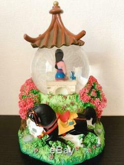 Disney Mulan Snowdome Snow globe Music Box rare